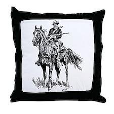 Old Bill Cavalry Mascot Throw Pillow