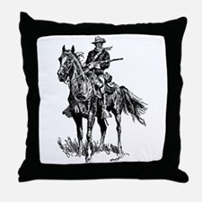Old Bill Cavalry Mascot Throw Pillow