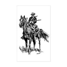 Old Bill Cavalry Mascot Rectangle Decal