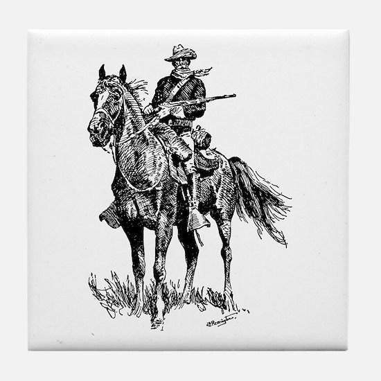 Old Bill Cavalry Mascot Tile Coaster
