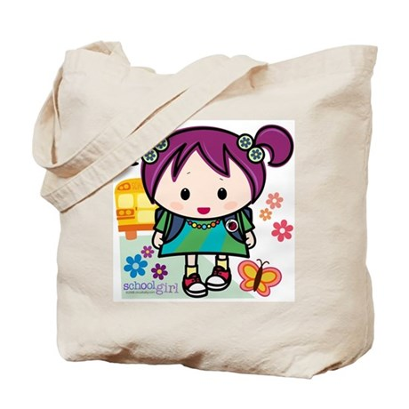School Girl Tote Bag