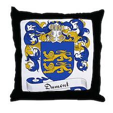 Dumont Family Crest Throw Pillow