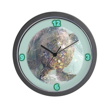 Watercolor Turtle Wall Clock
