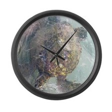Watercolor Turtle Large Wall Clock