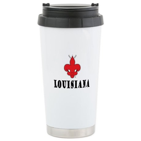 LOUISIANA craw-de-lis Stainless Steel Travel Mug