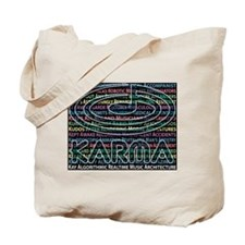 Tote Bag, KARMA Acronyms, dark