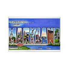 Maryland Greetings Rectangle Magnet