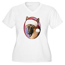 German Shepherd Santa T-Shirt