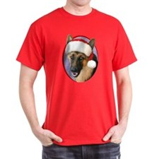 German Shepherd Santa T-Shirt