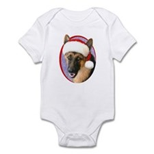German Shepherd Santa Infant Bodysuit