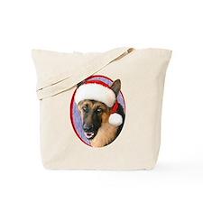 German Shepherd Santa Tote Bag