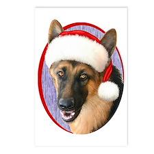 German Shepherd Santa Postcards (Package of 8)