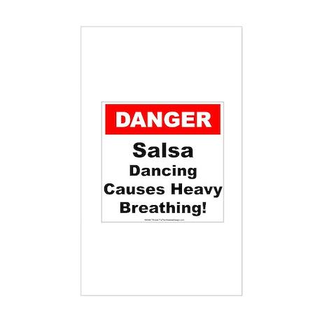 Danger Salsa Rectangle Sticker