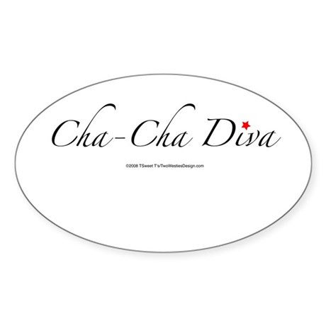 Cha Cha Diva Oval Sticker