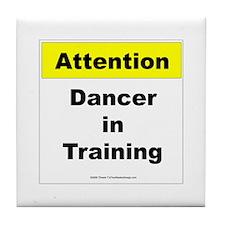 Dancer In Training Tile Coaster