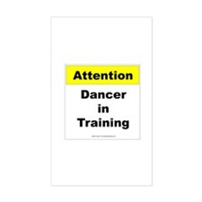 Dancer In Training Rectangle Stickers