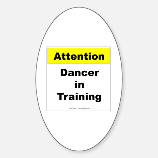 Dancer In Training Oval Decal