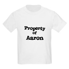 Property of Aaron Kids T-Shirt