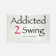 Addicted To Swing Rectangle Magnet