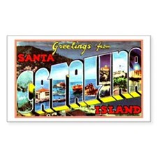 Catalina Island California Greetings Bumper Stickers