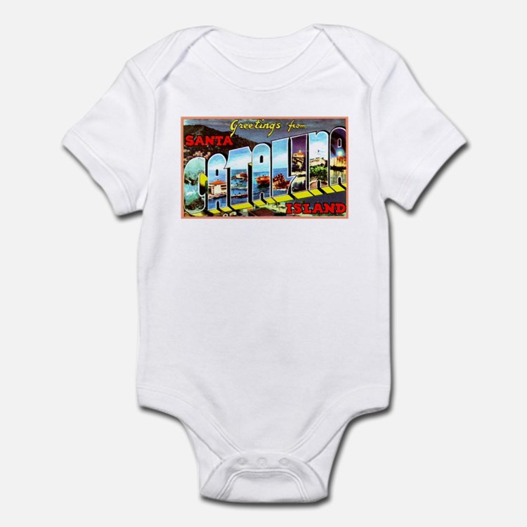 Catalina Island California Greetings Infant Bodysu