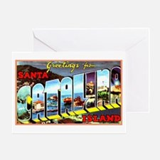 Catalina Island California Greetings Greeting Card
