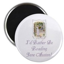"""Rather be Reading J.A. 2.25"""" Magnet (10 pack)"""