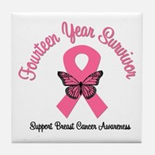 Breast Cancer (14 Yrs) Tile Coaster