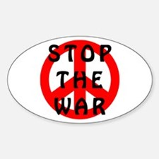 STOP THE WAR Oval Decal
