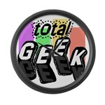 Cool Colors Total Geek Large Wall Clock