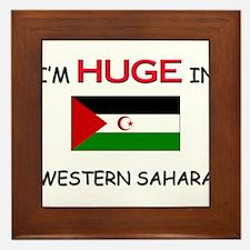 I'd HUGE In WESTERN SAHARA Framed Tile