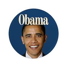 """Barack Obama 2008 3.5"""" Button"""