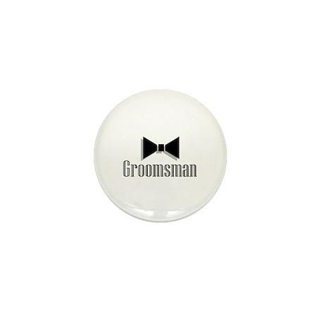 Groomsman (Black Bow Tie) Mini Button