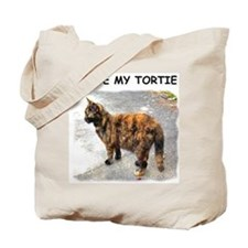 I Love My Tortie Tote Bag