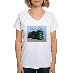 AFTM Ollie The Trolley Women's V-Neck T-Shirt