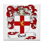 Duval Family Crest Tile Coaster