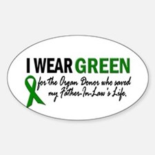I Wear Green 2 (Father-In-Law's Life) Decal