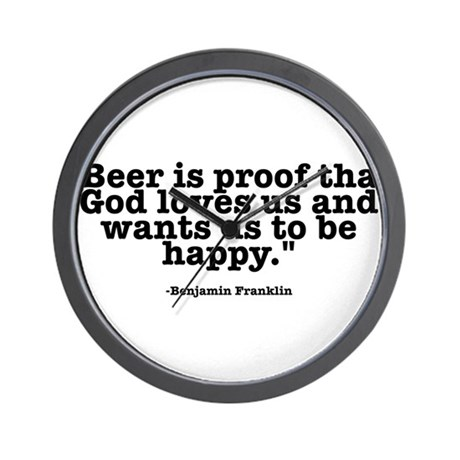 Beer Quotes Wall Clock