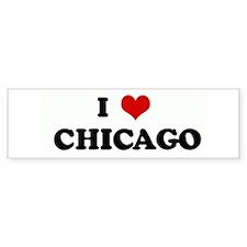 I Love CHICAGO Bumper Bumper Sticker