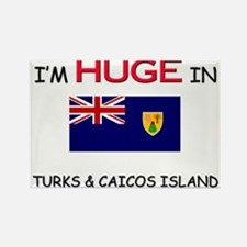 I'd HUGE In TURKS & CAICOS ISLAND Rectangle Magnet