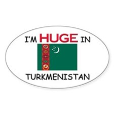 I'd HUGE In TURKMENISTAN Oval Decal
