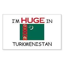 I'd HUGE In TURKMENISTAN Rectangle Decal