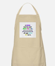 A BOOK CAN BE YOUR BEST FRIEN BBQ Apron