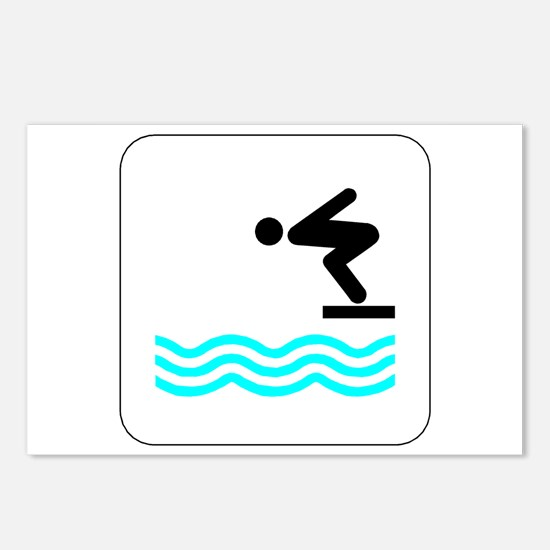 Diving Icon Postcards (Package of 8)