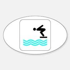 Diving Icon Oval Decal