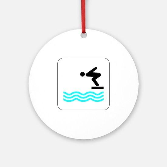 Diving Icon Keepsake (Round)
