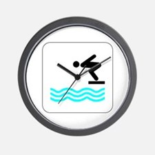 Diving Icon Wall Clock