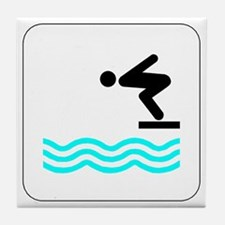 Diving Icon Tile Coaster