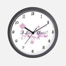 I Love Yaoi! Wall Clock