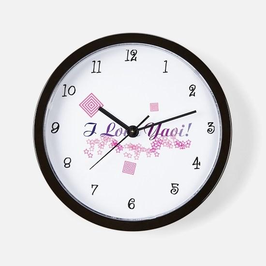 I Love Yaoi! Wall Clock